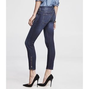 Express Stella Low Rise Ankle Zip Jean Leggings